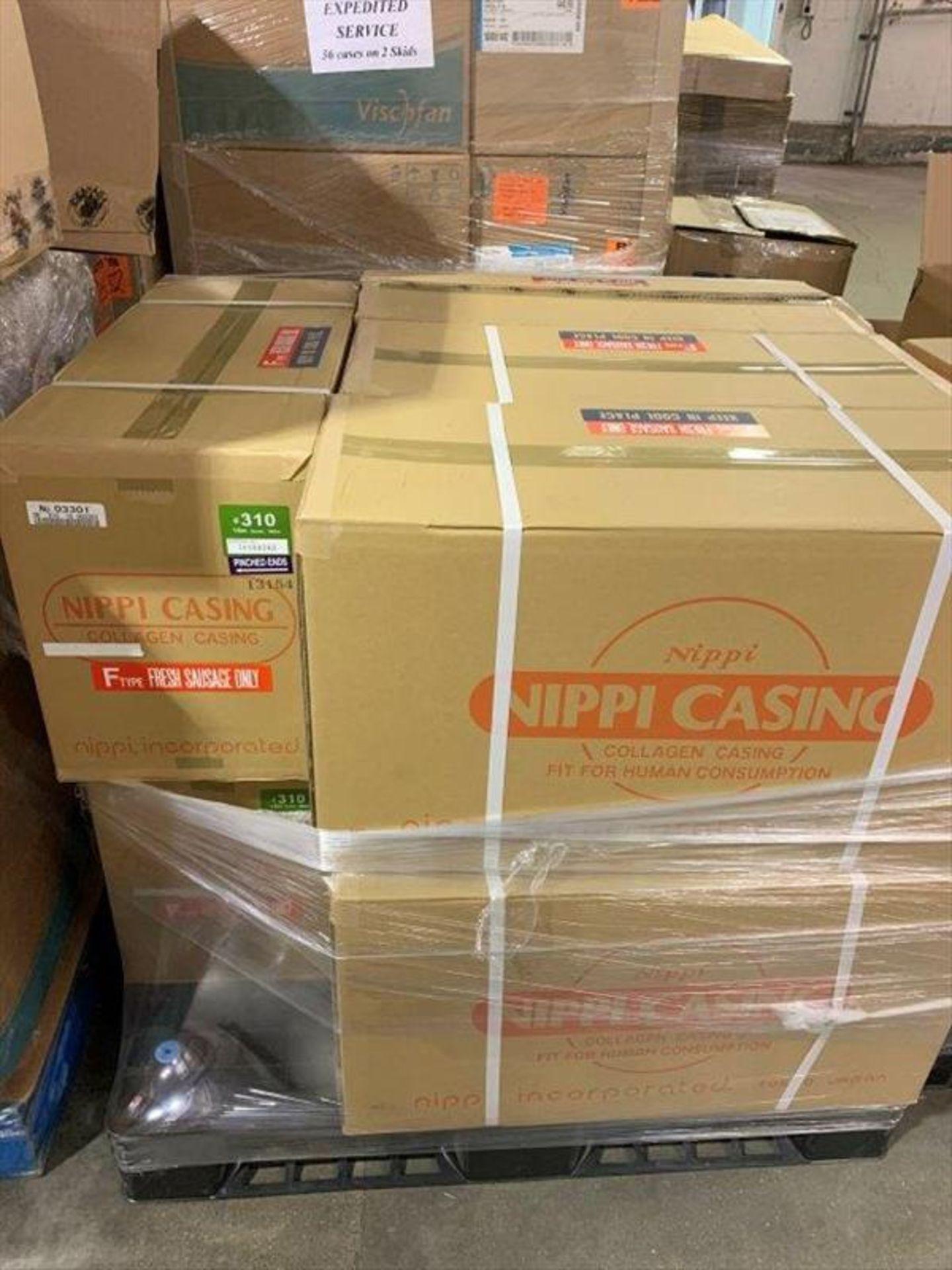 Lot 244 - (8 cases, 72 caddies) Nippi Casings type F, caliber 31