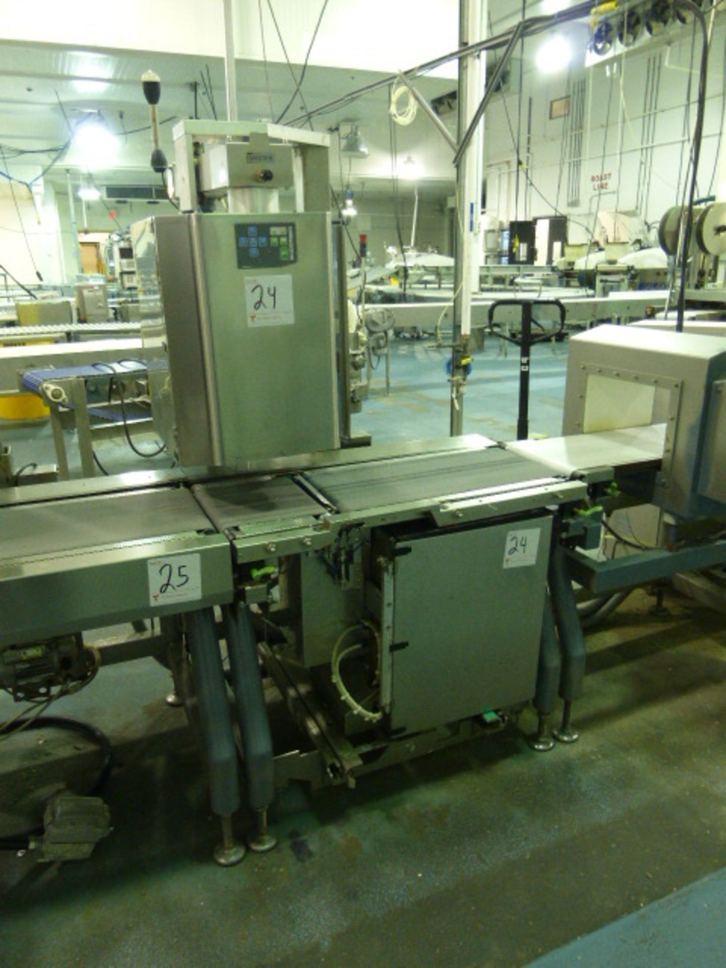 Lot 24 - Bizerba labeler (top and bottom), p/n 5484701002, ser. no.s 10835196 and 10835197 c/w conveyor/