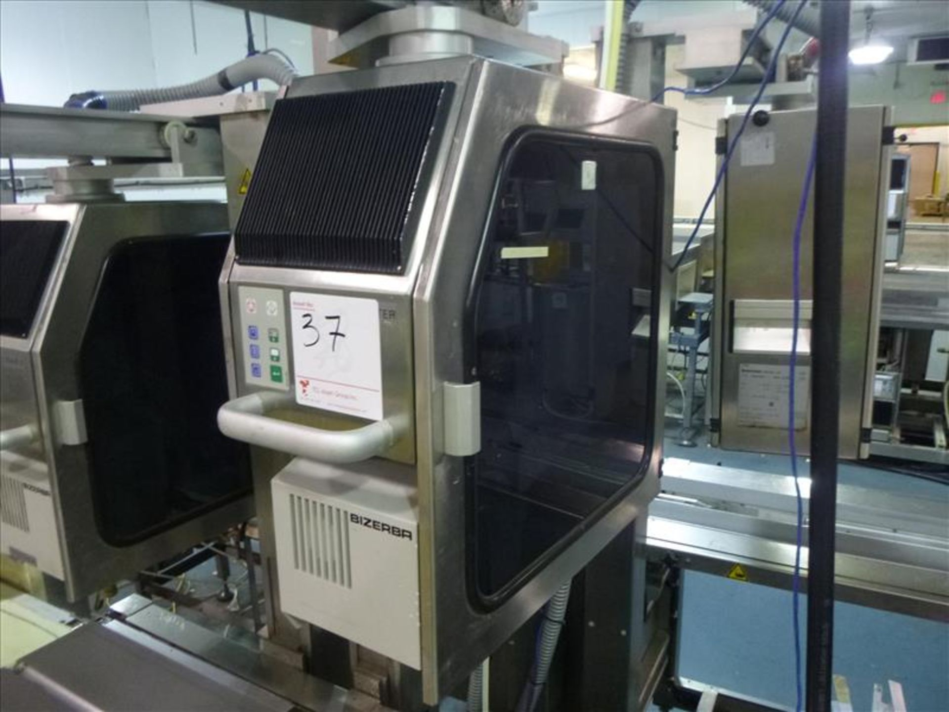 Lot 37 - Bizerba in-line check-weigher system (MASTER) w/ Bizerba GS label printer and Bizerba AB controller,