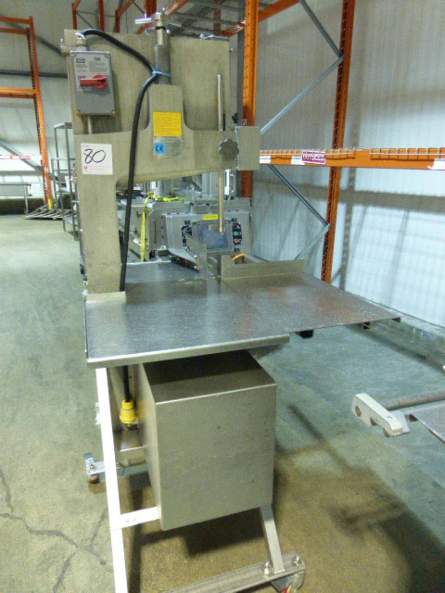 Lot 80 - AEW s/s bandsaw, model 400 Bandsaw, s/n 1335480