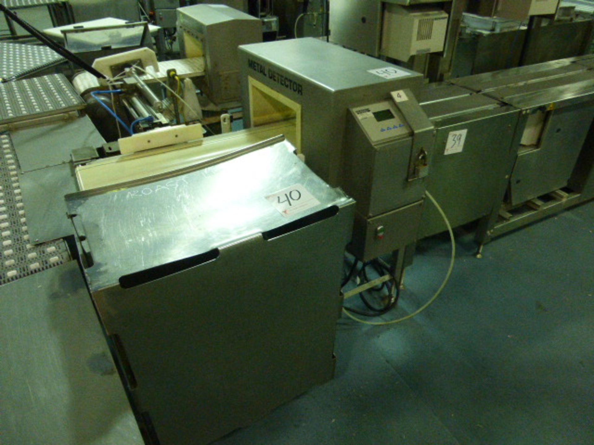 Lot 40 - Bizerba metal detector, model GLS350, s/n 2011-01-192, 13.75 in. x 7.75 in. aperture