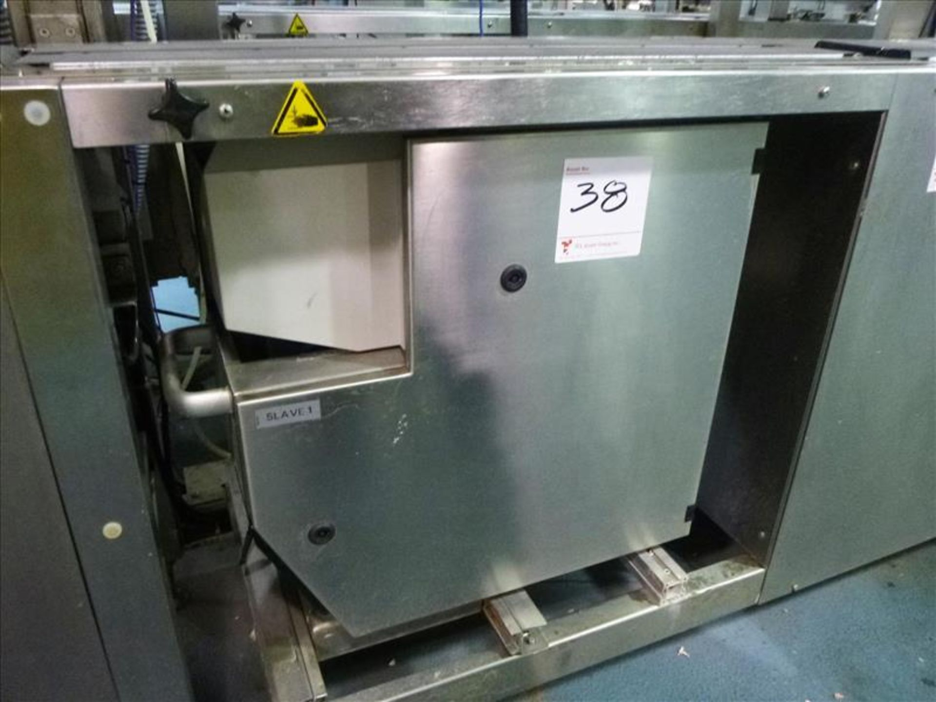 Lot 38 - Bizerba in-line check-weigher system (SLAVE1) w/ Bizerba GS label printer and Bizerba AB controller,