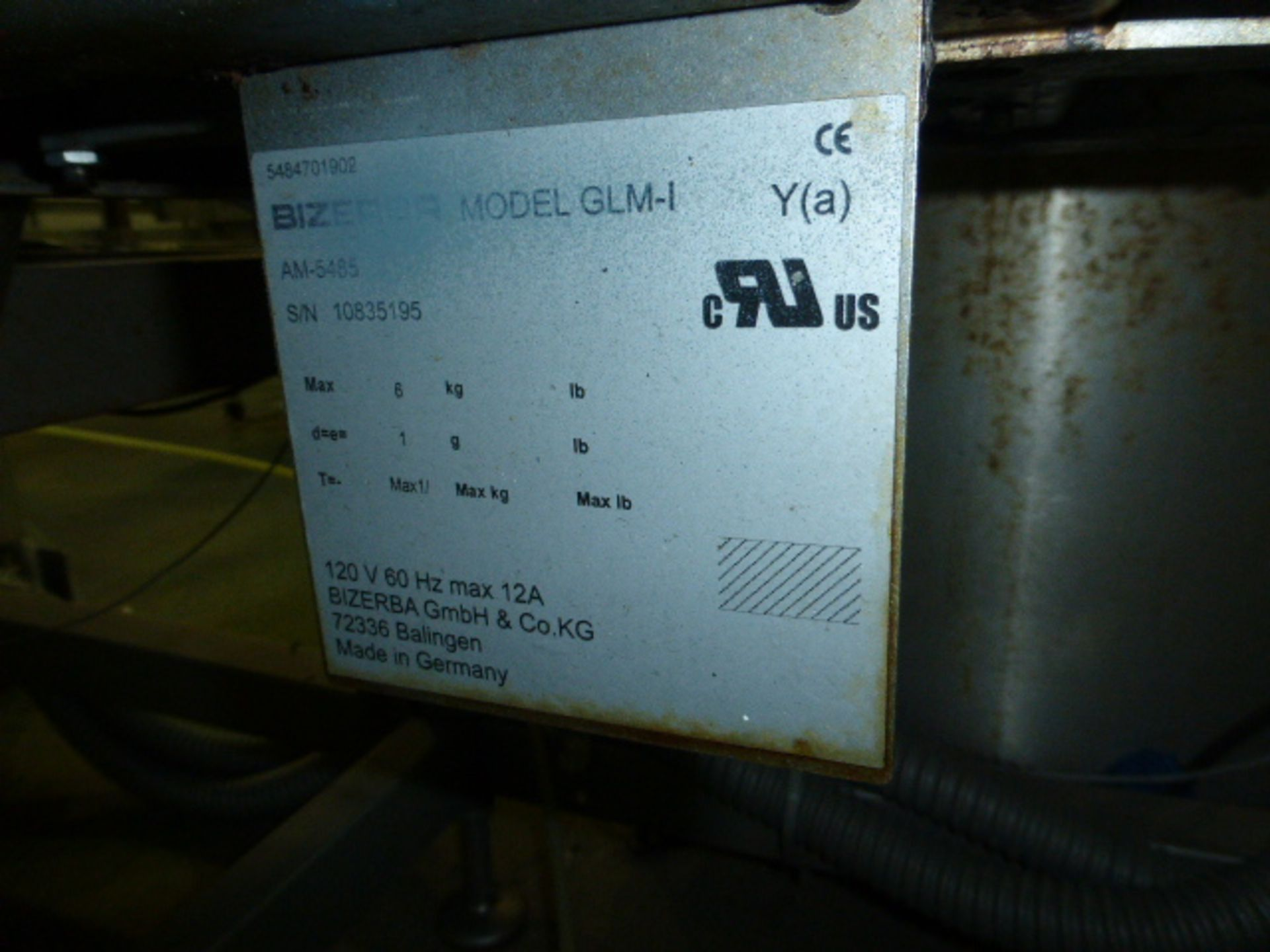 Lot 22 - Bizerba scale and labeler, model GLM-I, s/n 10835195