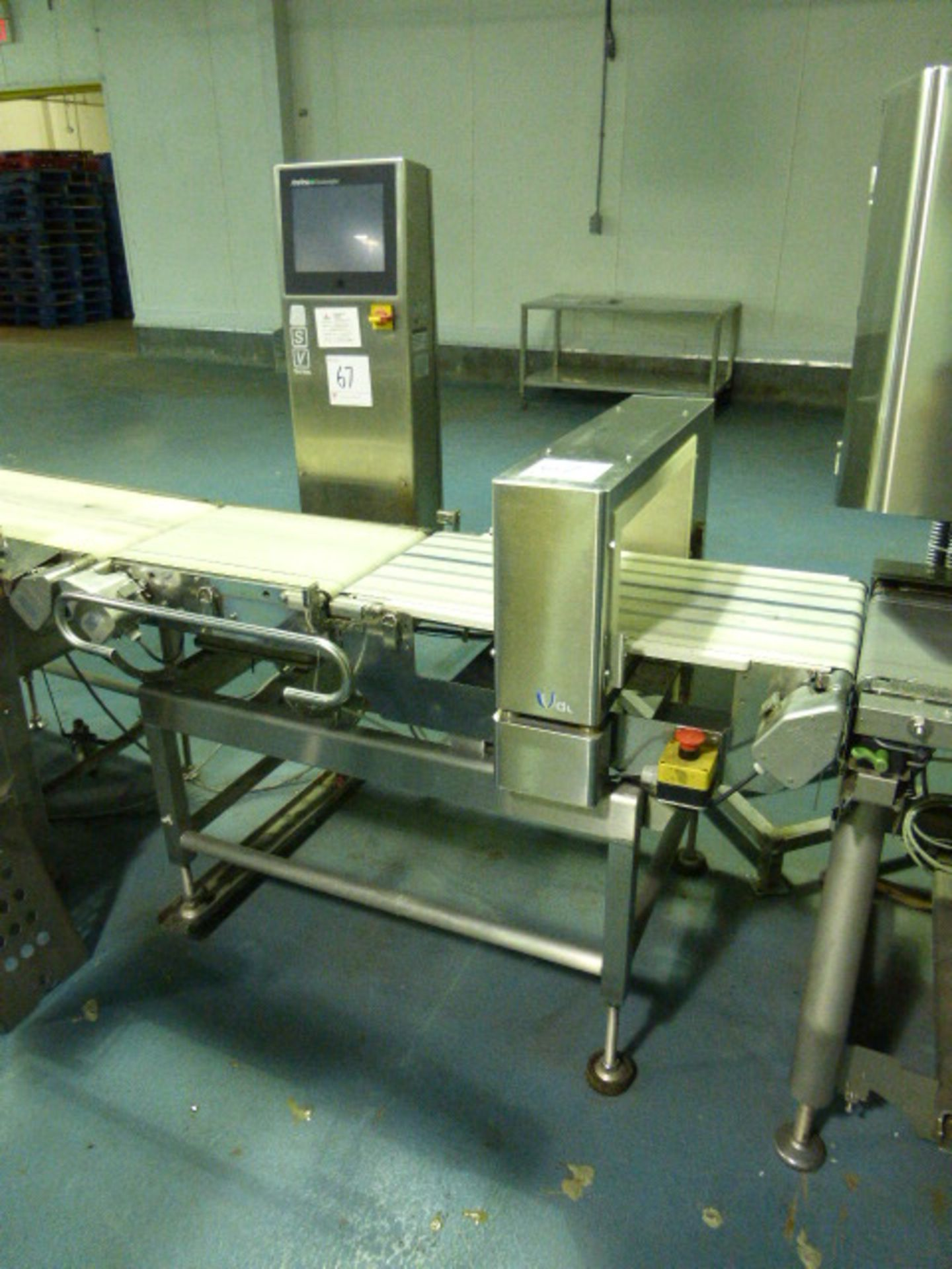 Lot 67 - Anritsu metal detector, mod. KD1126AW, ser. no. 4600019893 and check-weigher, mod.KW5476AW6D, ser.