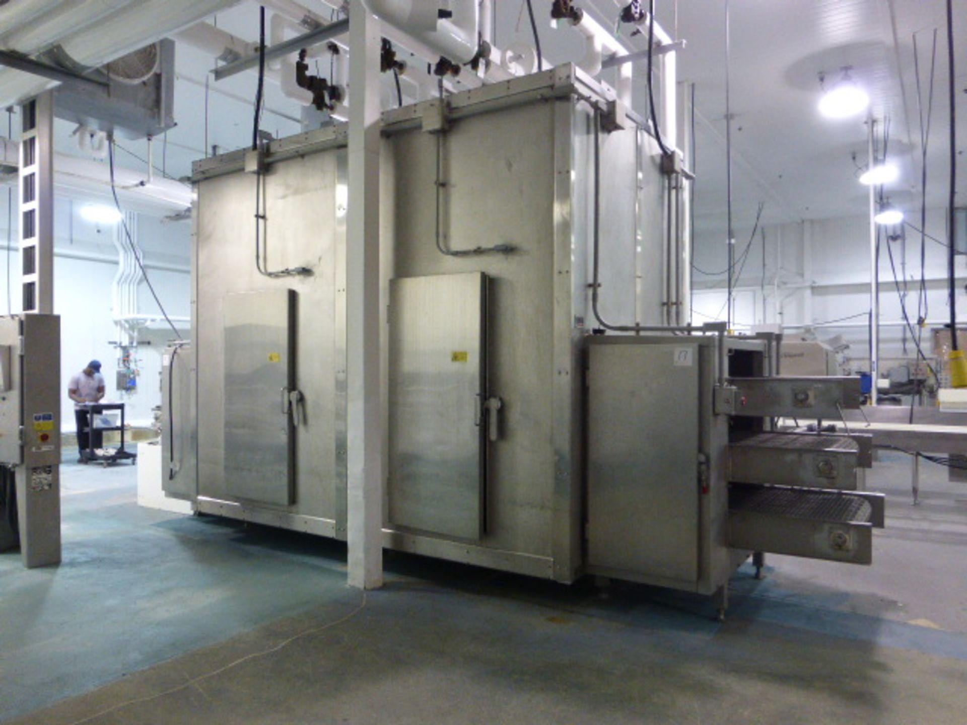 Lot 17 - Ross boundary layer control tunnel freezer/chiller, model BLC-II, ammonia, independent tunnel