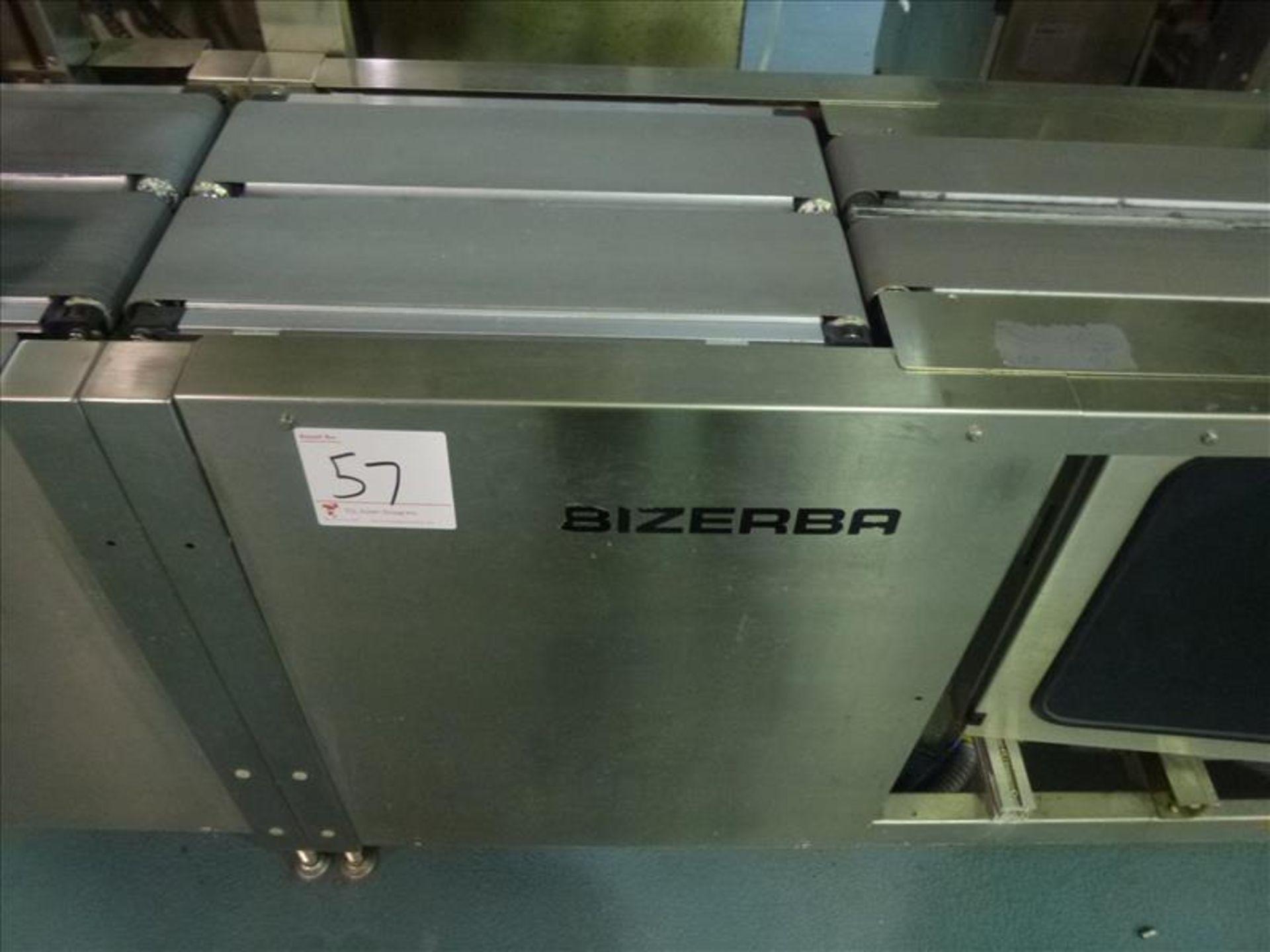 Lot 57 - Bizerba in-line check-weigher system (SLAVE1) w/ Bizerba GS label printer and Bizerba AB controller,