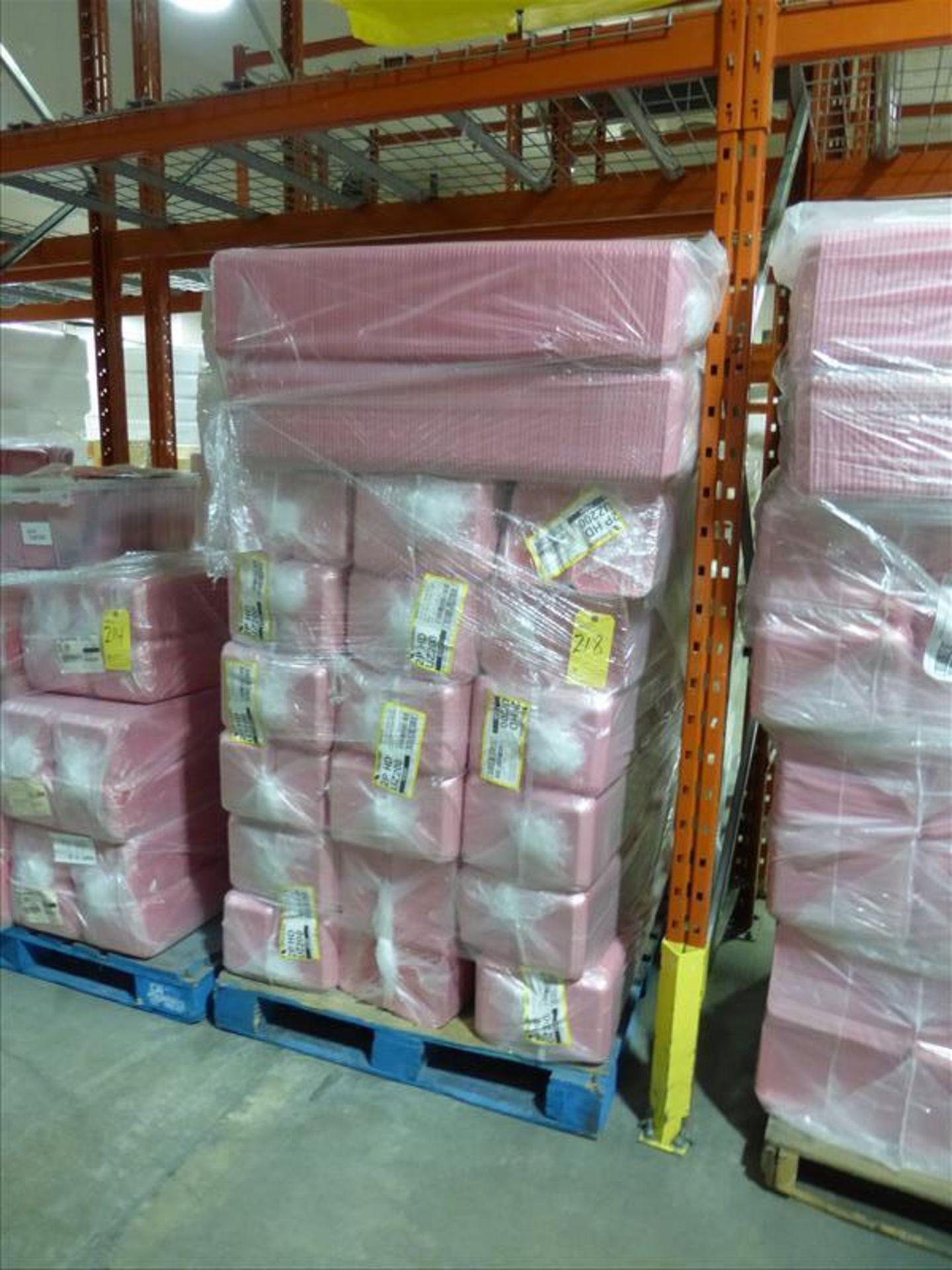 Lot 218 - (50 bundles, 5000) 2P HD overwrap foam trays, Cascade, pink
