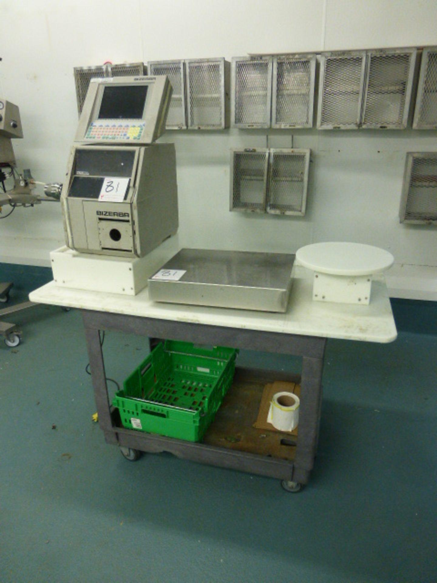 Bizerba check-weigher system w/ Bizerba GS label printer ser. no. 1945663 and Bizerba AB controller, - Image 2 of 2