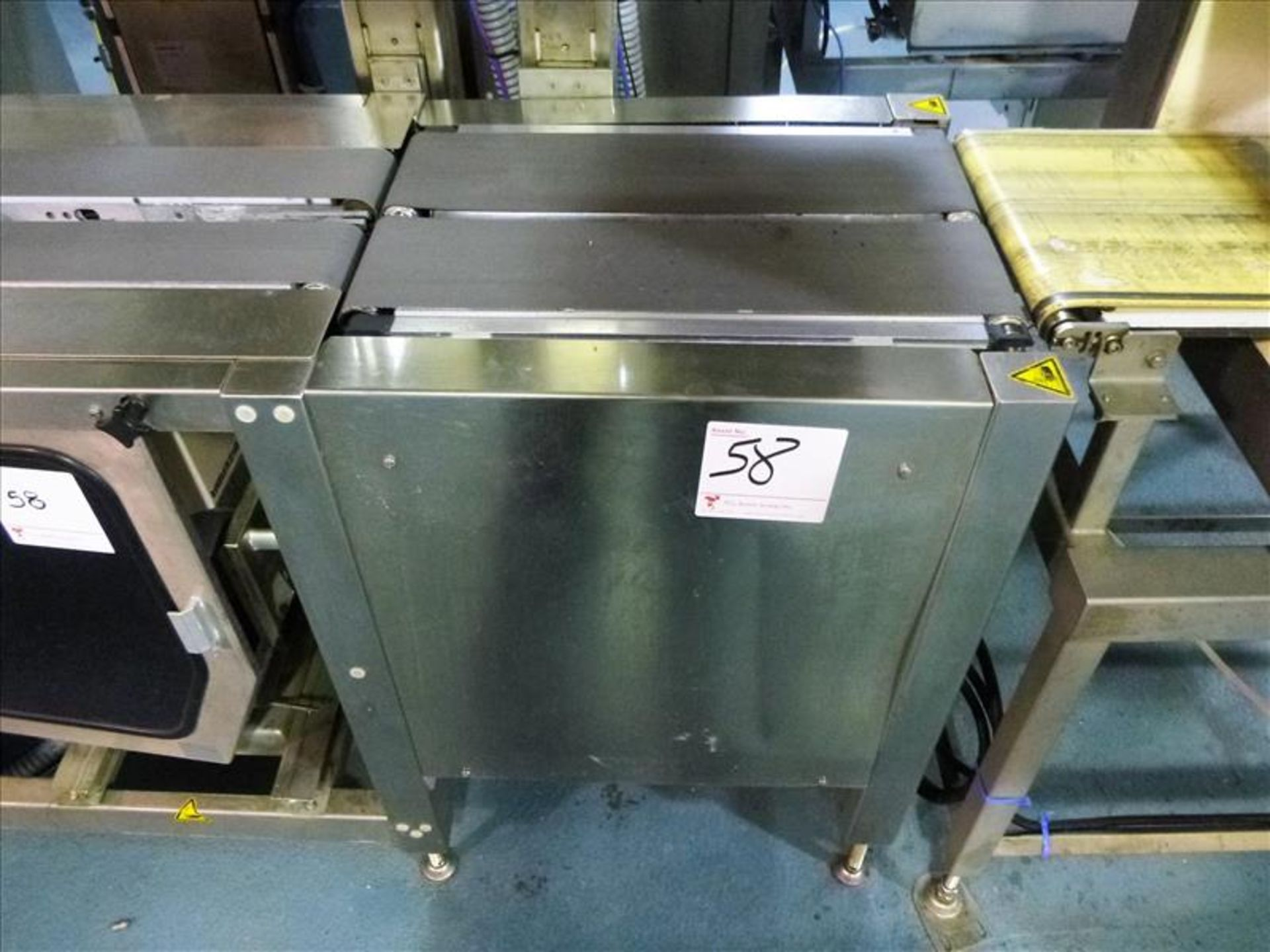Lot 58 - Bizerba in-line check-weigher system (SLAVE2) w/ Bizerba GS label printer, ser. no. 1960600 and