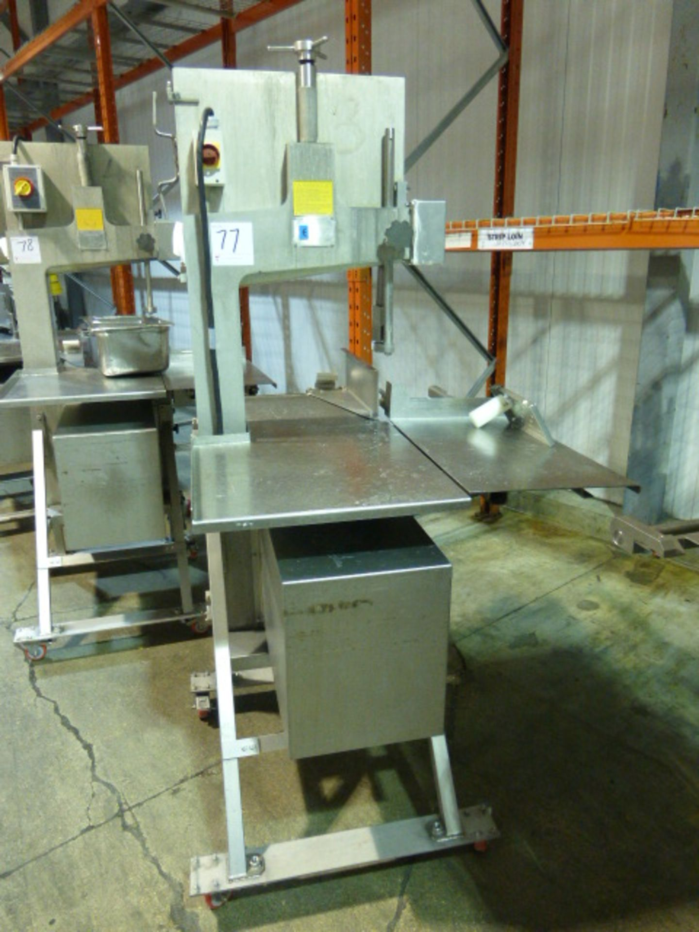 Lot 77 - AEW s/s bandsaw, model 400 Bandsaw, s/n 1335527