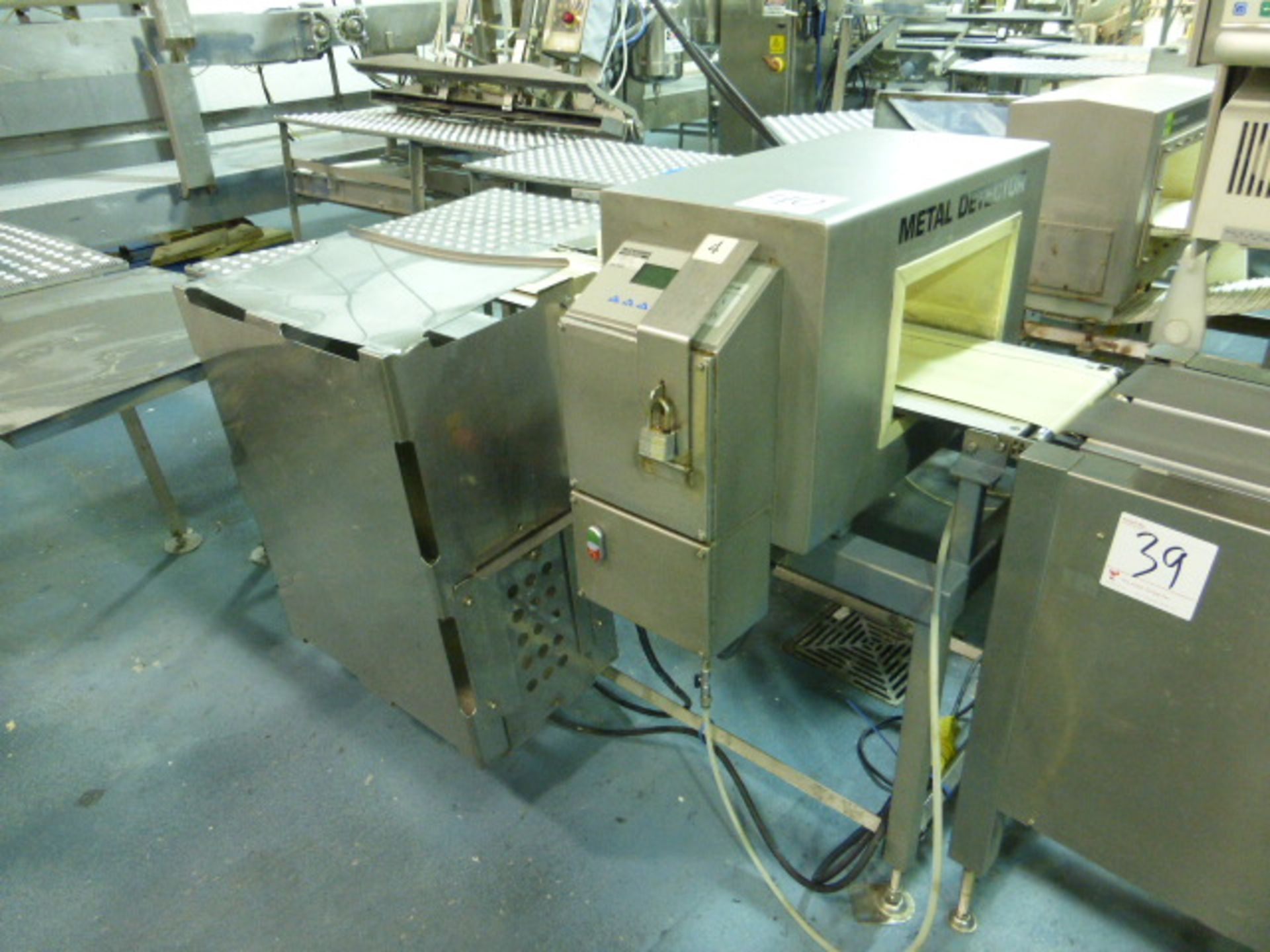 Lot 39 - Bizerba in-line check-weigher system (SLAVE2) w/ Bizerba GS label printer, ser. no. 1960596 and