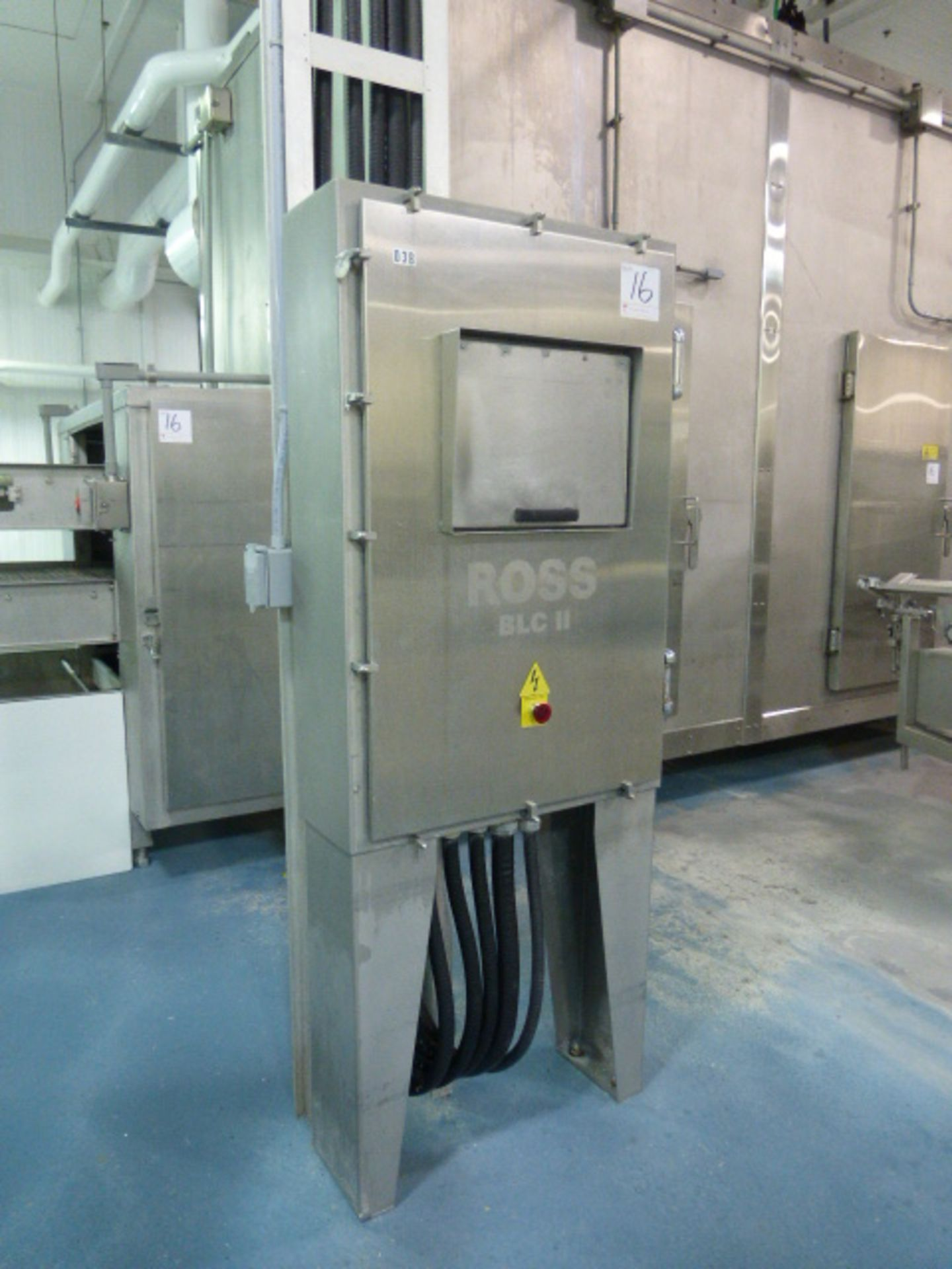 Lot 16 - Ross boundary layer control tunnel freezer/chiller, model BLC-II, ammonia, independent tunnel