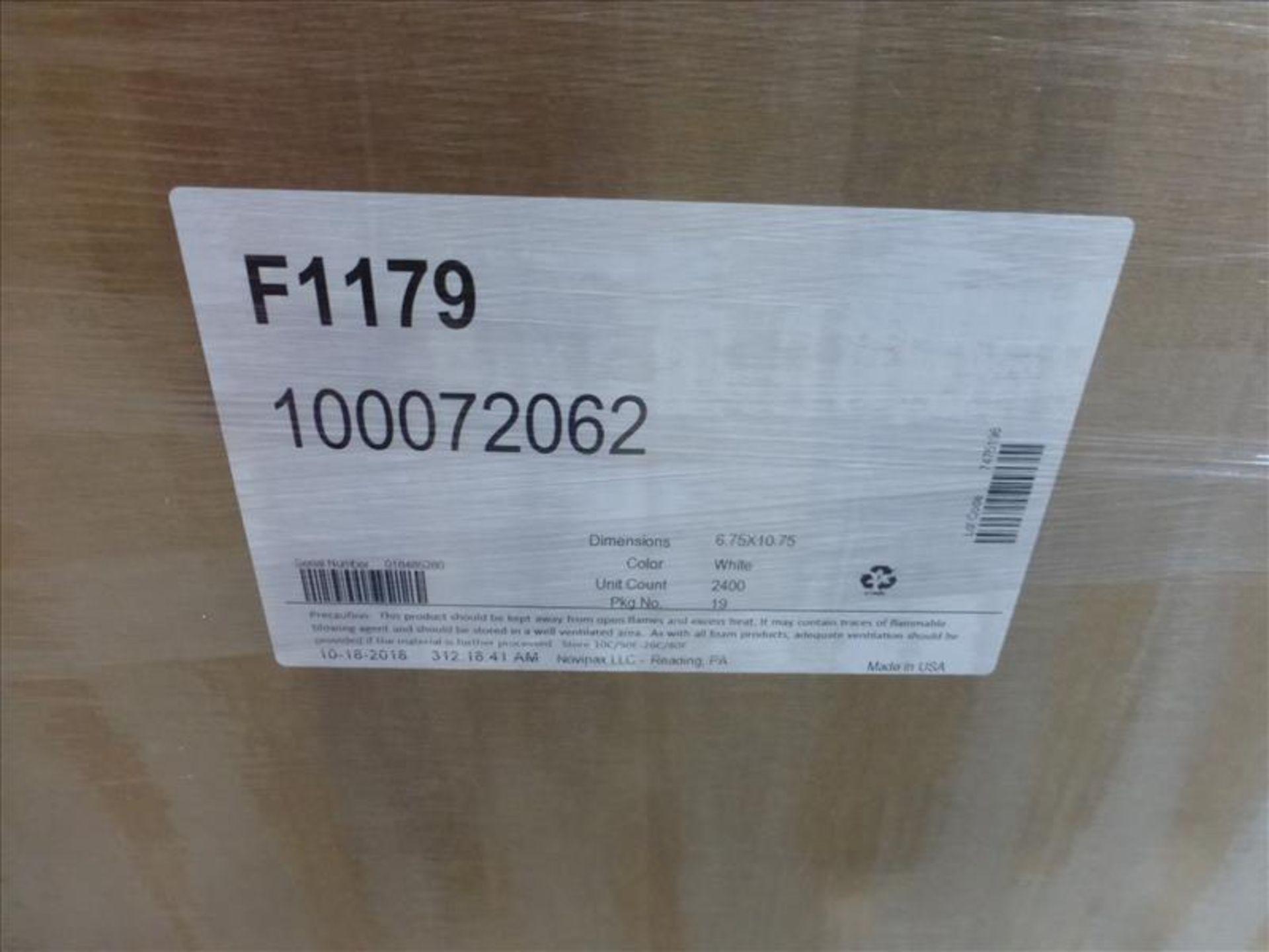 Lot 198 - (4 pallets, 2400) F1179 MAP trays NOVIPAX white