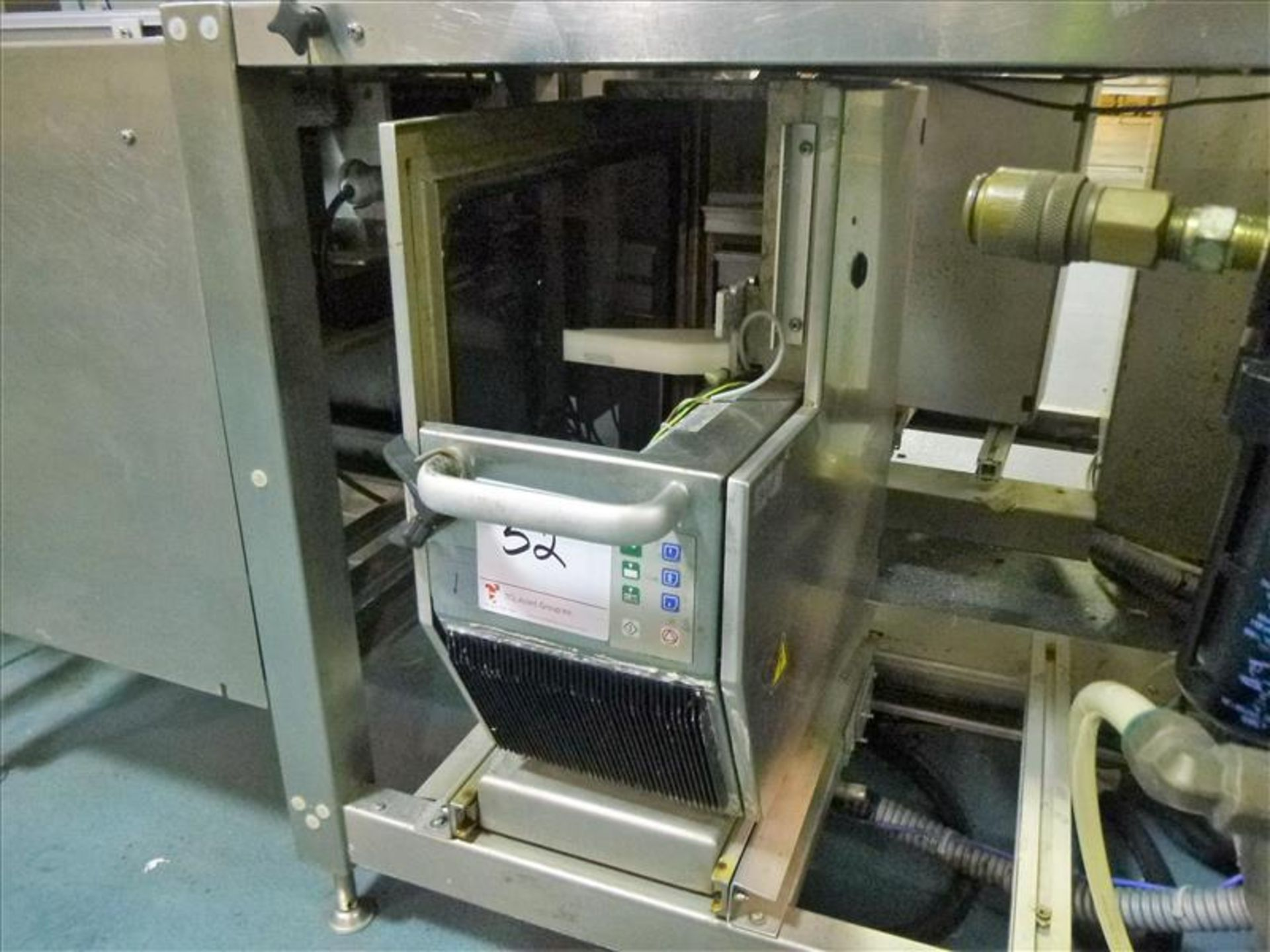 Lot 52 - Bizerba in-line check-weigher system (SLAVE2) w/ Bizerba GS label printer, ser. no. 1960591 (