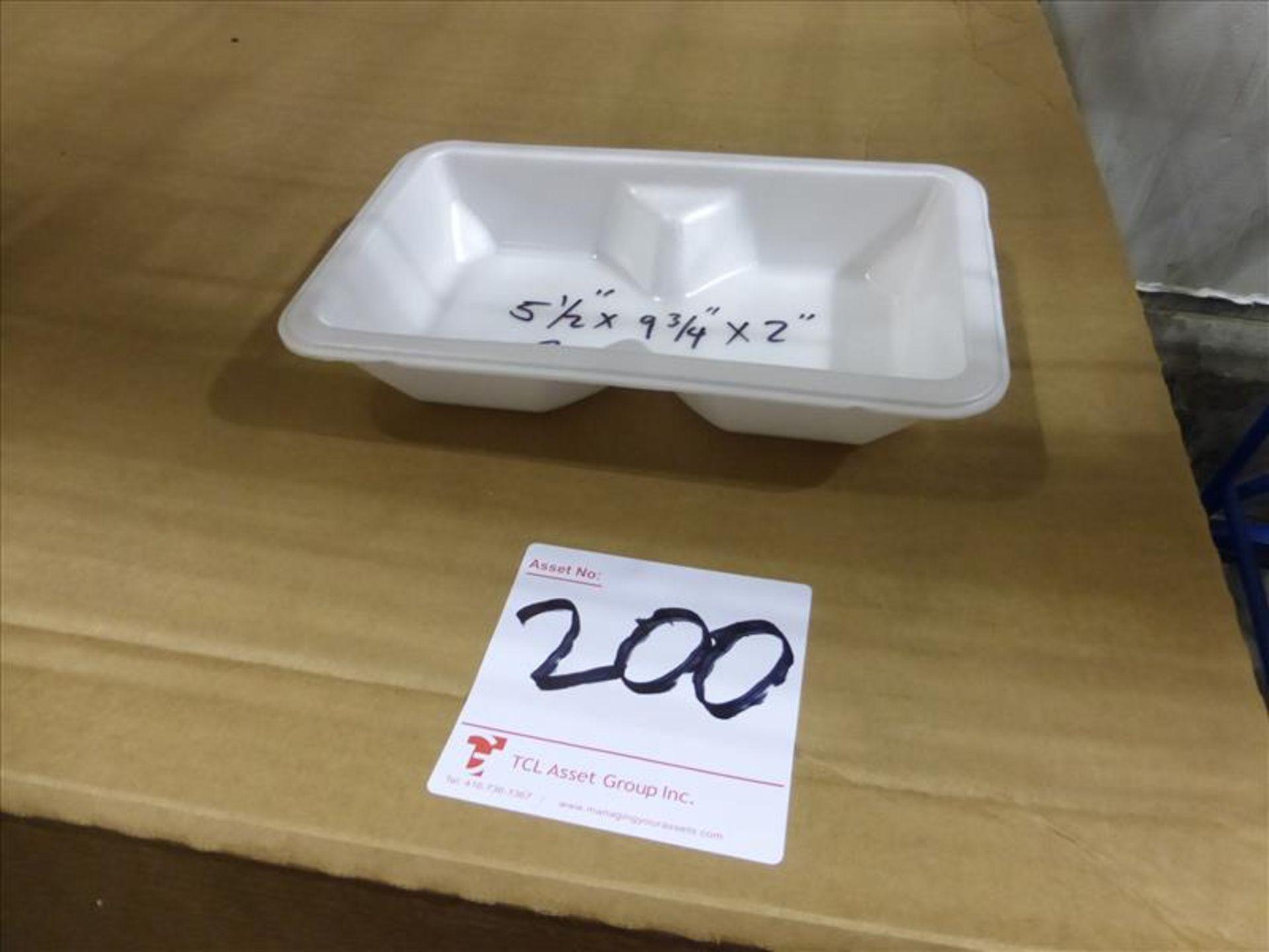 Lot 200 - (1 pallets, 1500) F1178P MAP trays NOVIPAX white