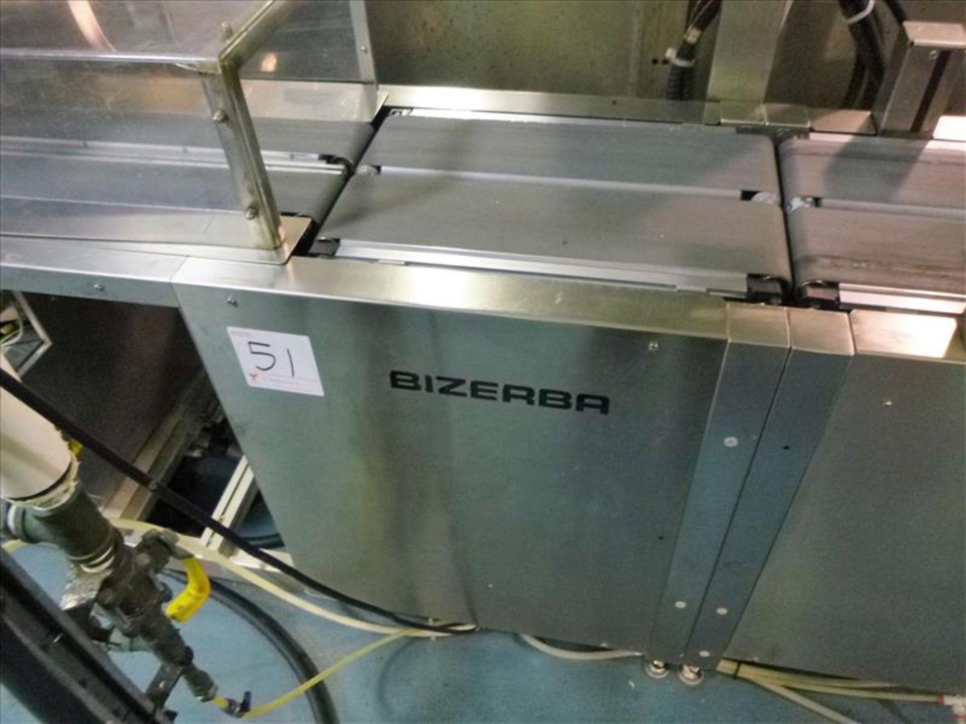 Lot 51 - Bizerba in-line check-weigher system (SLAVE1) w/ Bizerba GS label printer and Bizerba AB controller,