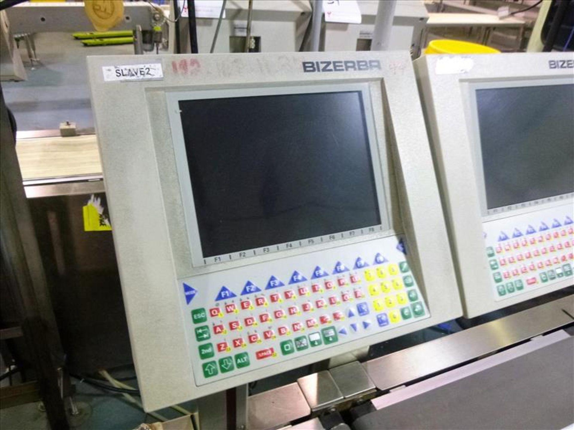 Lot 44 - Bizerba in-line check-weigher system (SLAVE1) w/ (no label printer) Bizerba AB controller, ser.
