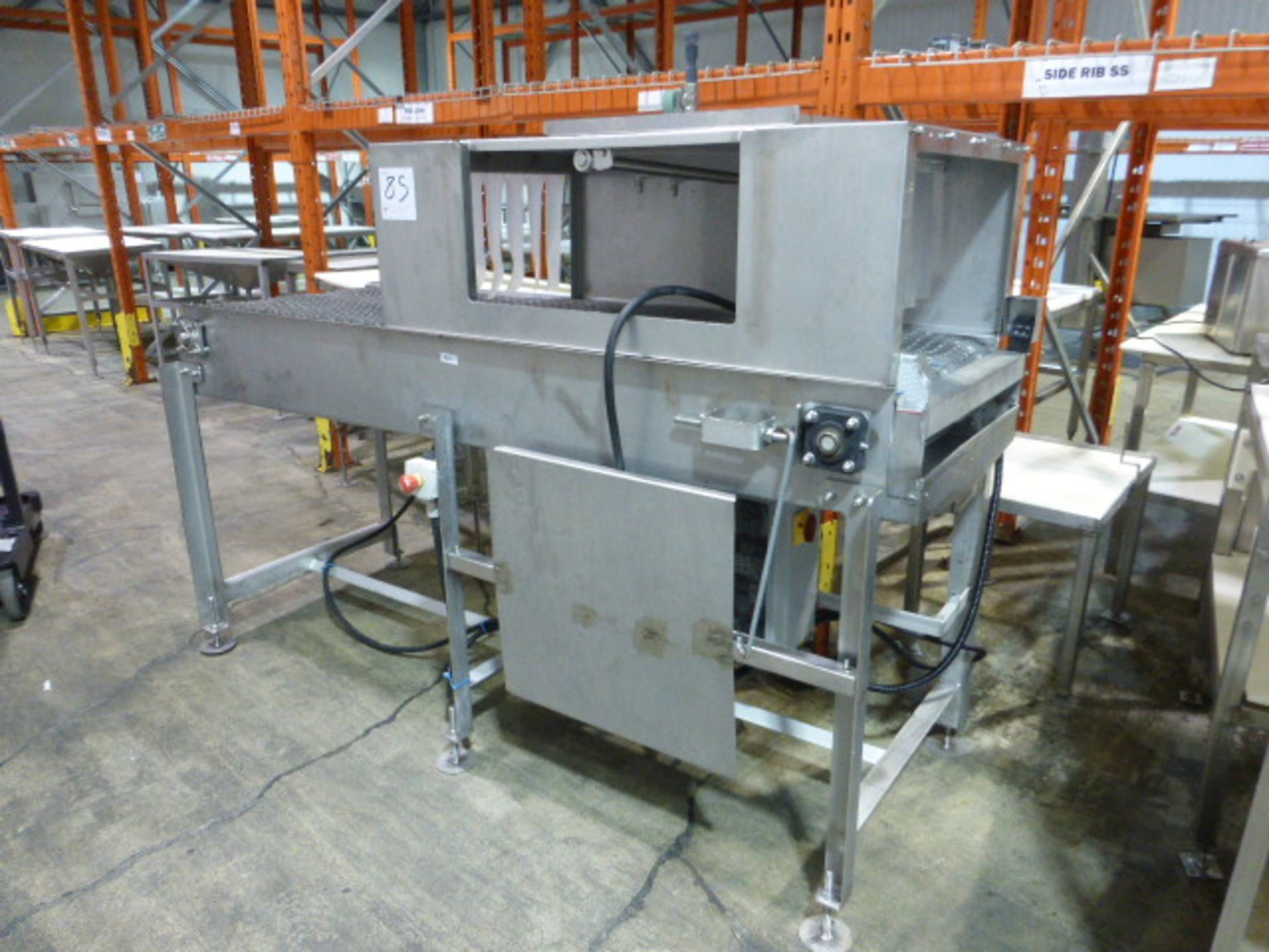 Lot 85 - s/s Tunnel washer, w/ s/s belt 2 ft. x 79 in.