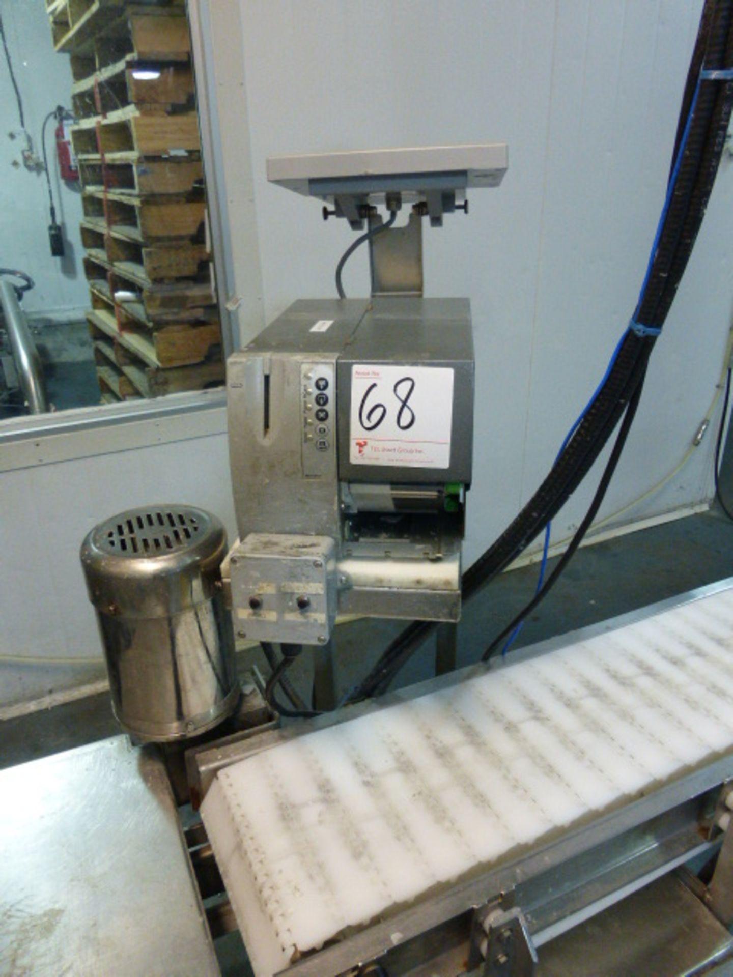 Lot 68 - Bizerba label printer, mod. GLP, ser. no. 10858843