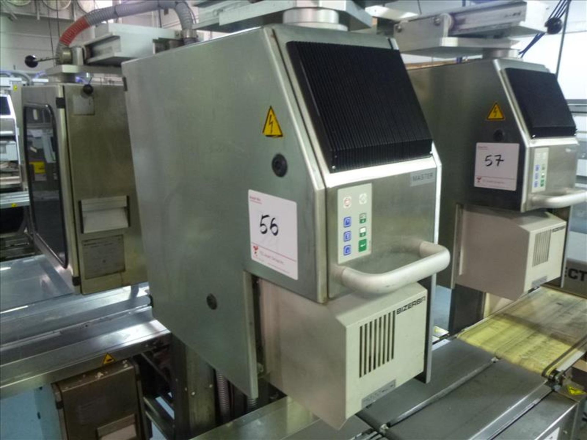 Lot 56 - Bizerba in-line check-weigher system (MASTER) w/ Bizerba GS label printer and Bizerba AB controller,