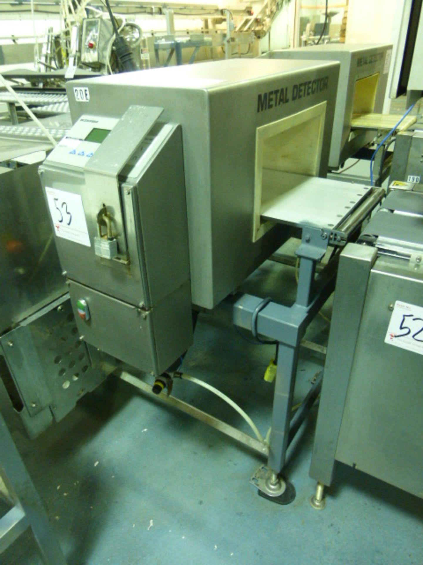Lot 53 - Bizerba metal detector, model GLS350, s/n 2001-10-191, 13.75 in. x 7.75 in. aperture