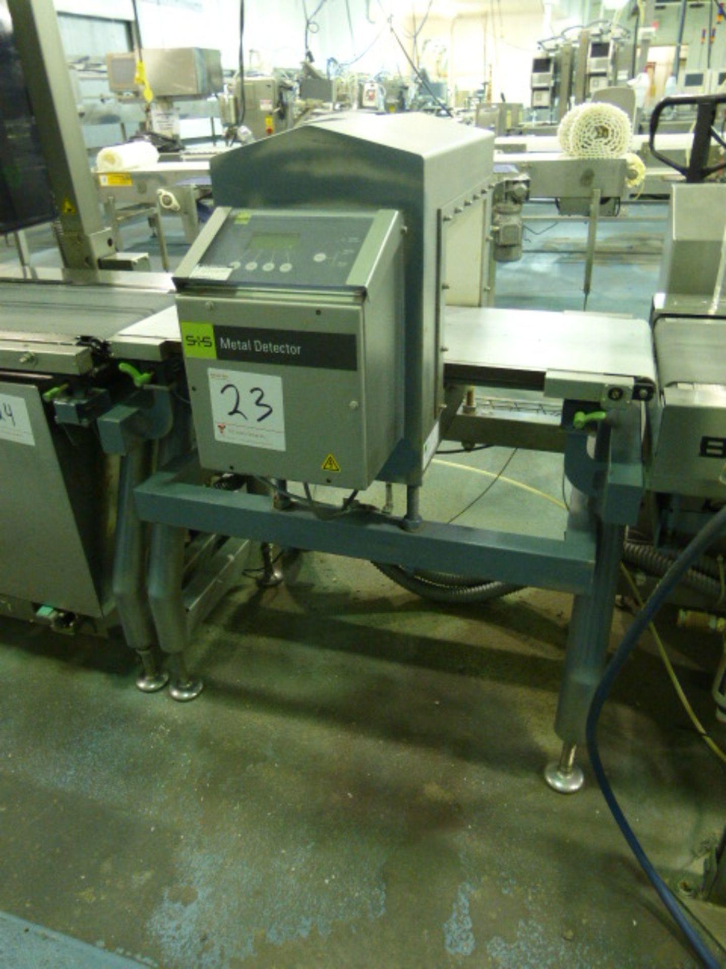 Lot 23 - S+S metal detector, type GLS350/250/125/289/143, aperture 13 1/2 in. x 8 in., 3 1/2 ft. long x 1 in.