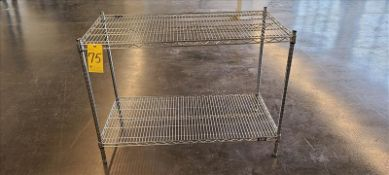 Two-Shelf Chrome Wire Shelving Unit 48 in. x 24 in. x 32 in.