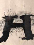 Antoni Tàpies - Sans titre, 1970Encre brossée et craie sur papierPièce unique, 1970Signée à la
