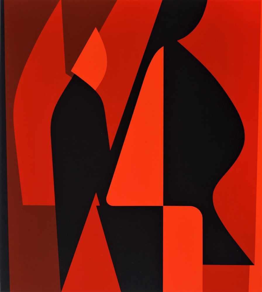 Victor Vasarely - Les années cinquante 8Sérigraphie originale sur papierSignée au crayon et