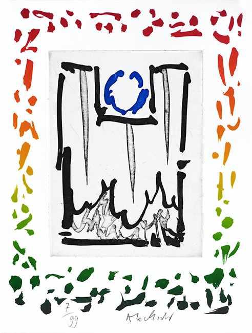 Lot 10 - Pierre Alechinsky - Triade II, 2013Gravure et lithographie originale sur papier BFK Rives 250gSignée