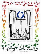 Pierre Alechinsky - Triade II, 2013Gravure et lithographie originale sur papier BFK Rives 250gSignée
