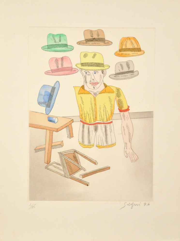 Lot 54 - Antonio Segui - Juanito, 1996Gravure originale sur papier vélinSignée au crayon et numérotée 1 /
