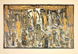 Antonio Segui - Théâtre de la ville II, 1992Lithographie originale sur papier BFK RivesSignée au