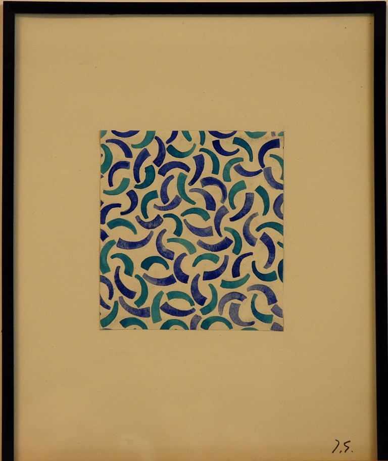Jacques Germain - Composition abstraiteGouache sur papierSignée à la main par l'artistePièce unique,