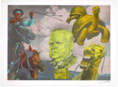 Erro - Orson Welles, 1987Lithographie originale sur papierImprimée sur les presses de Clos Bramsen