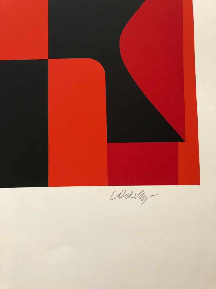 Victor Vasarely - Les années cinquante 8Sérigraphie originale sur papierSignée au crayon et - Image 3 of 3