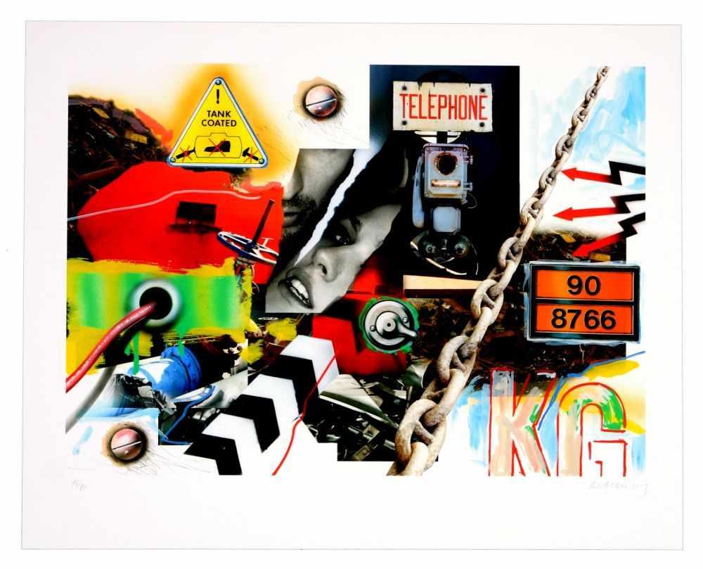 Lot 5 - Peter Klasen - Lost Landscape, 2012Digigraphie originale sur papier BFK Rives 250gSignée à la main