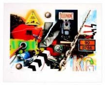 Peter Klasen - Lost Landscape, 2012Digigraphie originale sur papier BFK Rives 250gSignée à la main