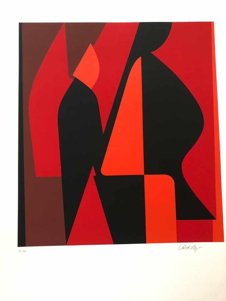 Victor Vasarely - Les années cinquante 8Sérigraphie originale sur papierSignée au crayon et - Image 2 of 3