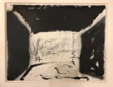 Antoni Tàpies - Variations sur un thème musical 16Lithographie originale sur Vélin d'Arches,