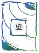 Pierre Alechinsky - Rêverie du Matelot III, 2015Gravure et lithographie originale sur papier BFK