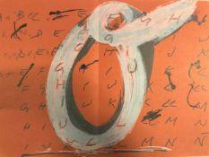 Antoni Tàpies - Objets et grands formats, 1972Lithographie originale en couleurs sur