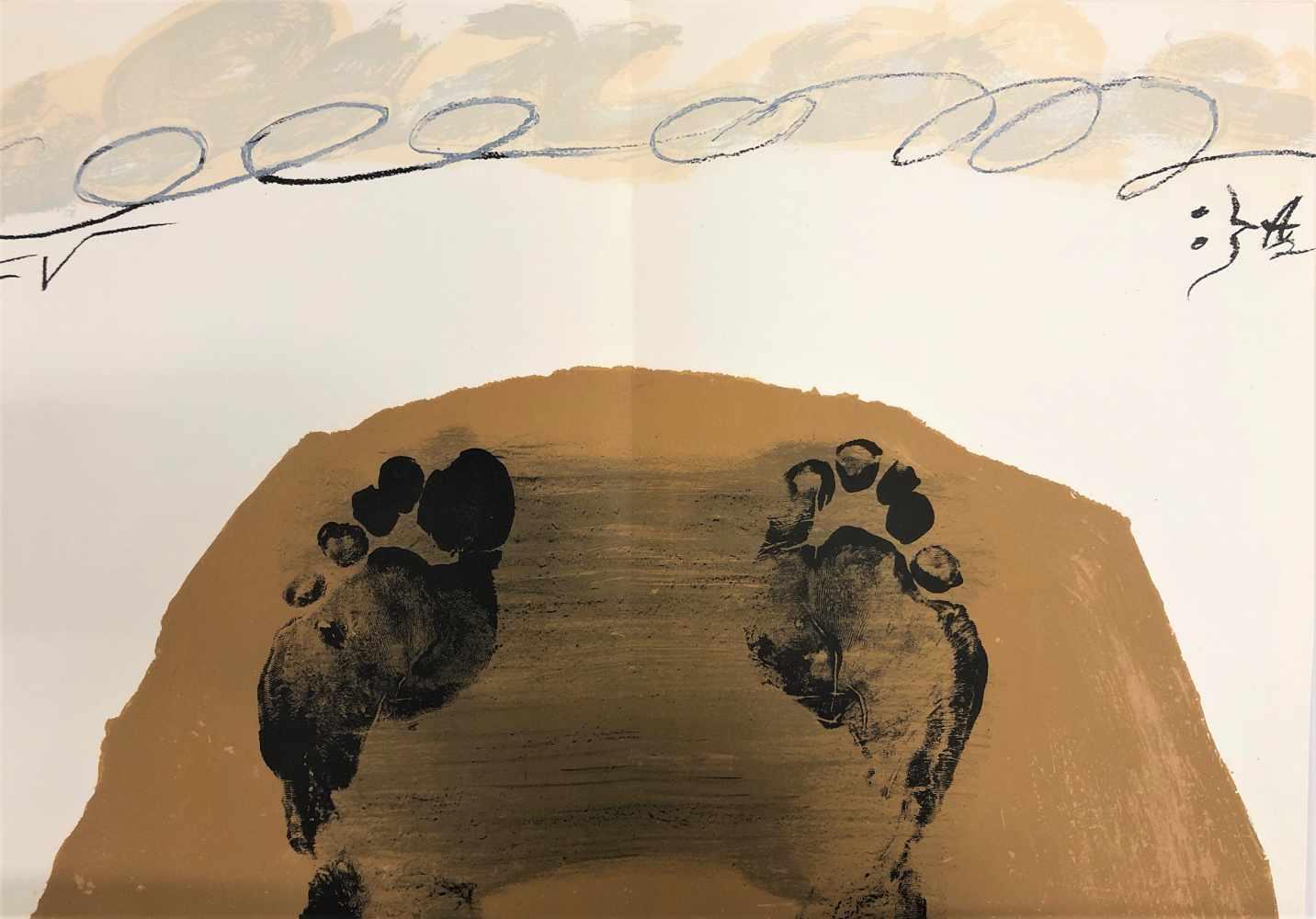 Lot 29 - Antoni Tàpies - Objets et grands formats, 1972Lithographie originale en couleurs sur