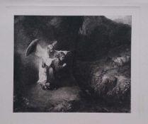 Rembrandt (d'après) - Daniel et L'ange