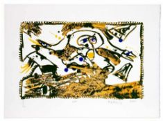 Pierre Alechinsky - En route (Est), 2001