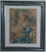 Constantin Terechkovitch - Portrait de femme au chapeau, 1931