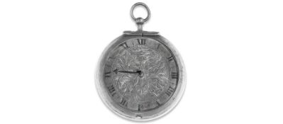 A silver key wind pair case pocket watch with shagreen case