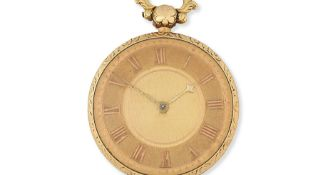 An 18K gold key wind open face pocket watch