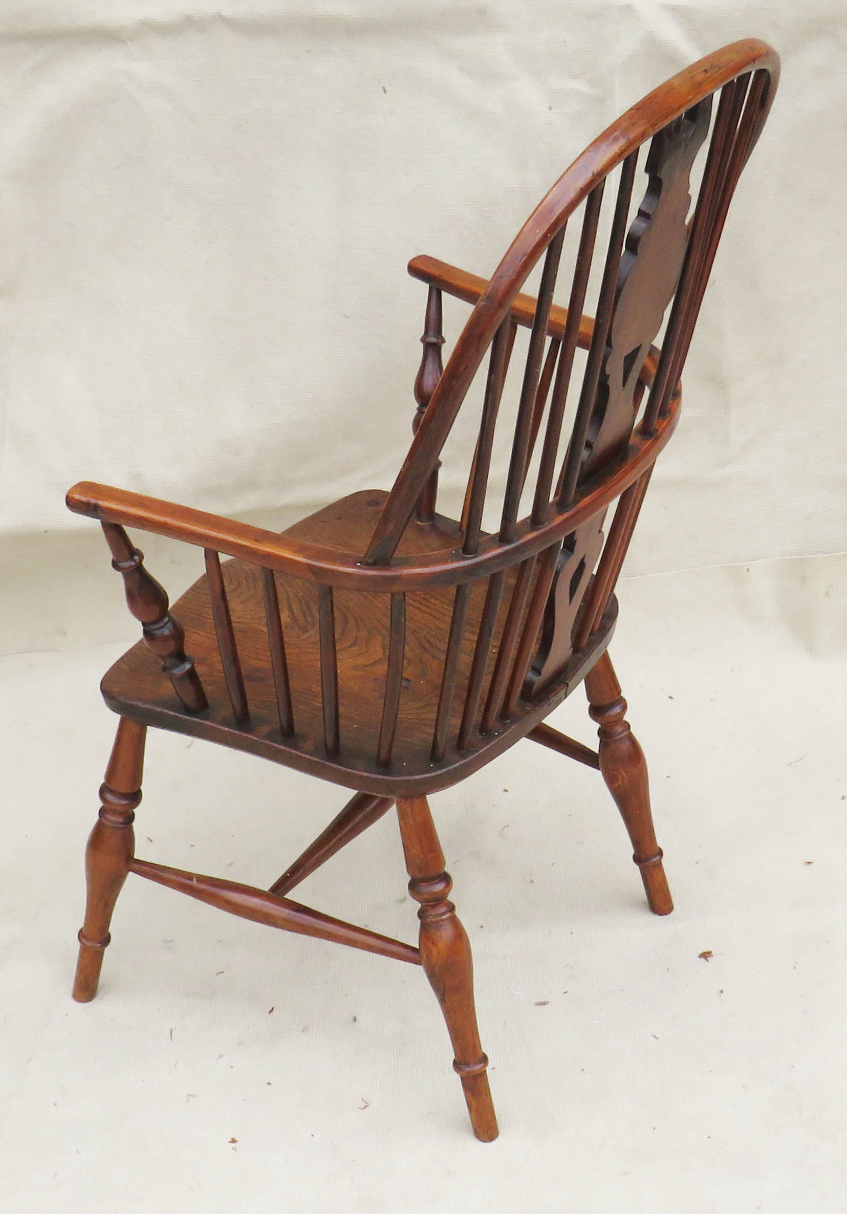 Lot 47 - Thames Valley Draft Back Windsor Armchair, Early 19th