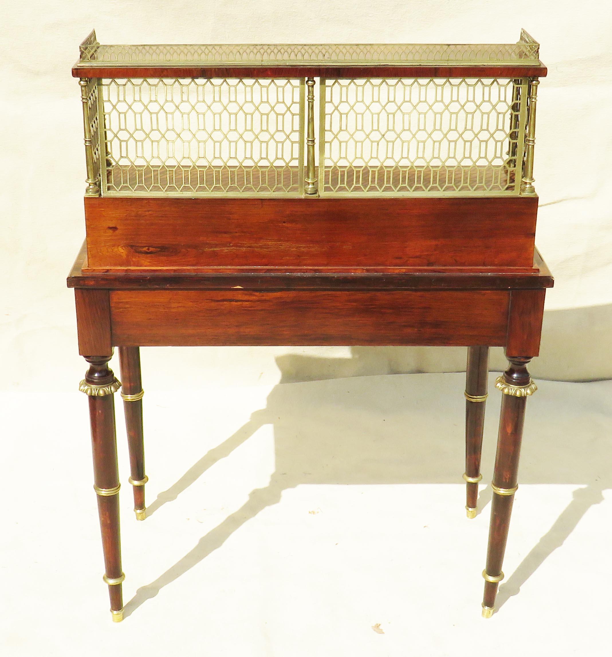Lot 16 - Superb quality Regency period early 19th Century rosewood bonheur du jour